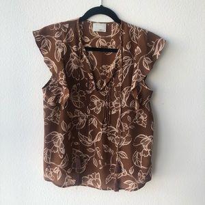 Greylin short sleeve blouse